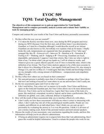TQM - Total Quality Management - CIS