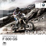 Catalogue F 800 GS - BMW Motorrad International