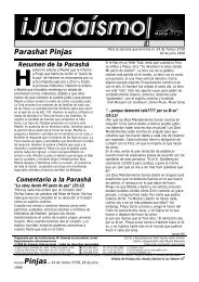 Parashat Pinjas - Ohr Somayach