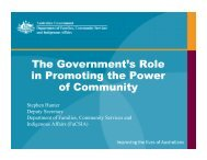 The Government's Role in Promoting the Power of ... - Our Community