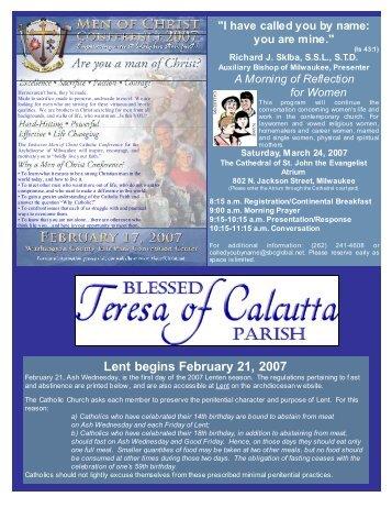 Feb407 - Blessed Teresa of Calcutta Parish