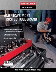 AMerICA's Most trusted tool brAnd - Craftsman