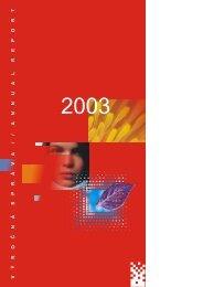 Výročná správa 2003 (SK,EN)