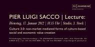 PIER LUIGI SACCO | Lecture: - Designaustria