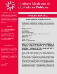 Noticias Fiscales 59 - Instituto Mexicano de Contadores Públicos