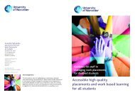 Accessible high quality placements and work based learning for all ...