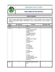 prosedur kualiti teras maklumbalas pelanggan - JPBD Selangor