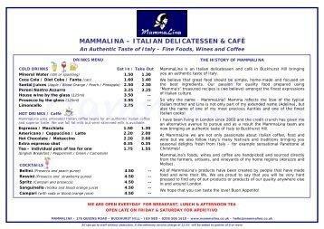 MAMMALINA – ITALIAN DELICATESSEN & CAFÉ