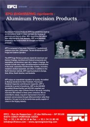 Aluminum Precision Products - EPCI ENGINEERING