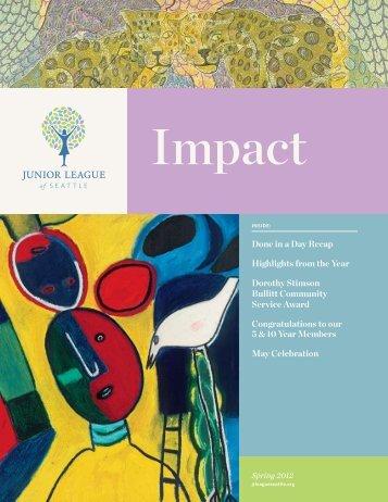 Impact Magazine - Junior League of Seattle