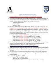 Spring 2012 Recreational Soccer Info