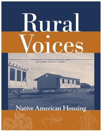 Native American Housing (Spring 2004 issue of Rural Voices ...