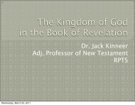 The Kingdom of God in the Book of Revelation