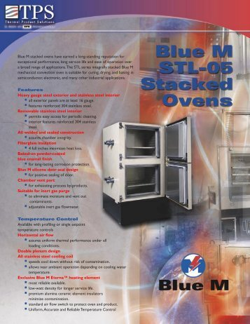 Blue M STL-05 Stacked Oven - MHz Electronics, Inc