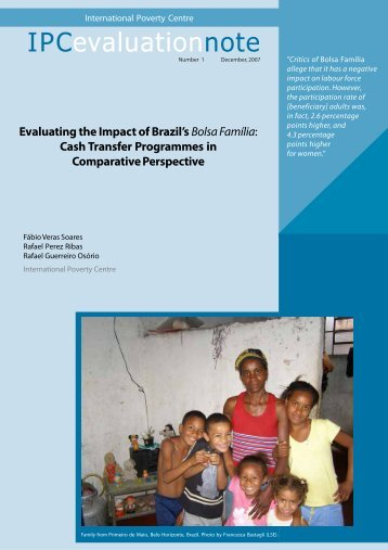 Evaluating the Impact of Brazil's Bolsa Família - International Policy ...