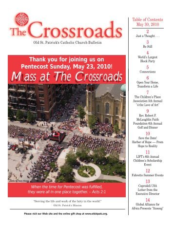 Mass at The Crossroads - Old St. Patrick's Church