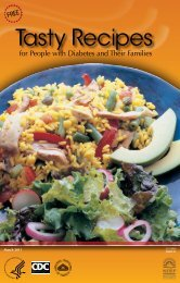Tasty Recipes for People with Diabetes and Their Families