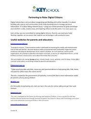 Partnering to Raise Digital Citizens Useful websites for ... - Key School
