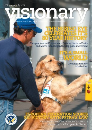 July 2009 Visionary - International Guide Dog Federation