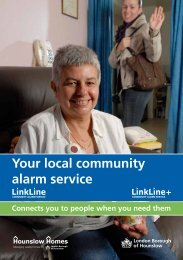 Linkline - Your local community alarm service - Hounslow Homes
