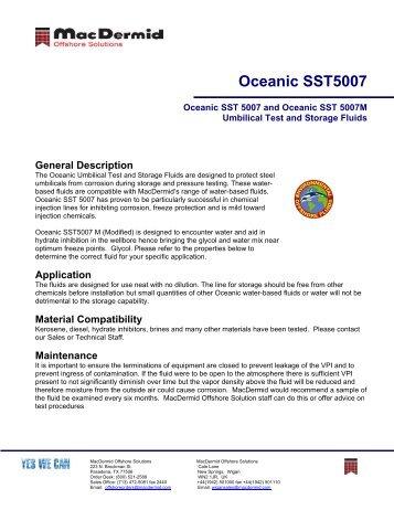 Oceanic SST5007 - ER Trading AS