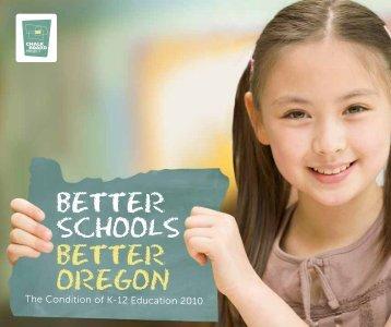 Better SchoolS Better oregon - The Chalkboard Project