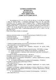 uchwała budżetowa na rok 2010 nr xxxv/237/10 rady ... - Gmina Ropa