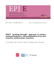 Soft Matter and Biological Physics - Universidad de San ...