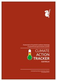 CAT Country Report Australia - Climate Action Tracker