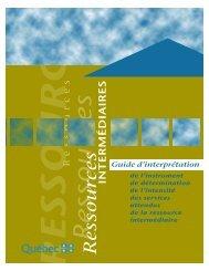 Guide d'interprétation de l'instrument de détermination de l'intensité ...