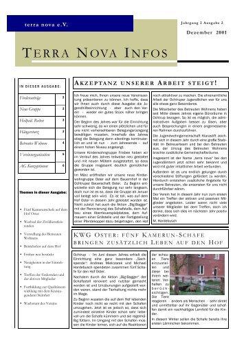 akzeptanz unserer arbeit steigt! - terra nova eV