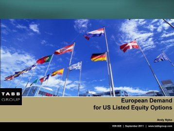 European Demand for US Listed Equity Options - The Options ...