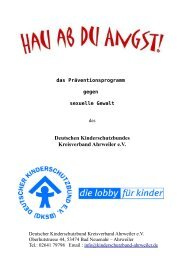 Deutschen Kinderschutzbundes Kreisverband Ahrweiler e.V.