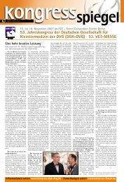 53. Jahreskongress der Deutschen Gesellschaft für Kleintiermedizin ...