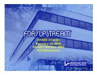 SHARE 2008 UPSTREAM for LINUX Presentation - Innovation Data ...