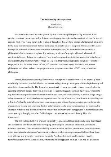 The Relationality of Perspectives.pdf - DSpace at Khazar University