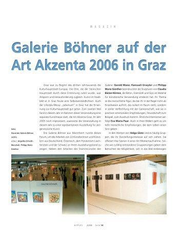 Galerie Böhner auf der Art Akzenta 2006 in Graz Galerie Böhner auf ...