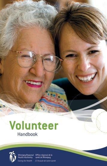 WRHA Volunteer Handbook - Winnipeg Regional Health Authority