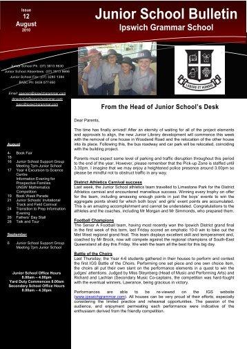 12082010 - Ipswich Grammar School
