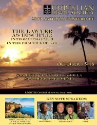 """Half-Day Ethics CLE Seminar """"One Stop Shop"""" - Christian Legal ..."""