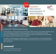 proxomed® Referenzeinrichtung Tagungsort Reha-Zentrum ...