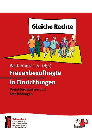 Frauenbeauftragte in Einrichtungen - Weibernetz eV
