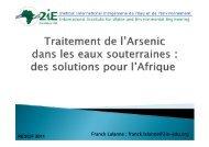 Traitement de l'Arsenic dans les eaux souterraines - Cooperation at ...