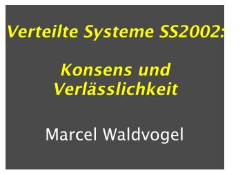 Slides - Marcel Waldvogel