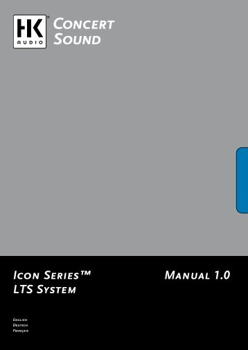 Manual 1.0 Icon Series™ LTS System - SDS Music Factory AG