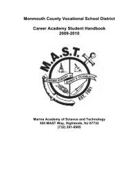 Monmouth County Vocational School District Career Academy ...