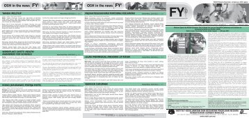 OSH in the news OSH in the news - NIOSH