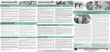 OSH in the news OSH in the news - NIOSH