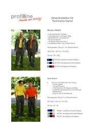 Stretchkollektion für Technische Dienst - Profiline Berufsmode GmbH