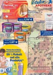 20 % Rabatt auf alle Produkte* - Vitalis Apotheke Bremen